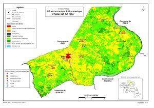 structure des infracstructures pour l'enseignement dans la commune de siby