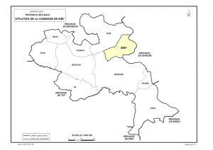 situation géographique de la commune de siby