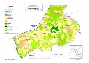 occupation spatiale de la commune de siby